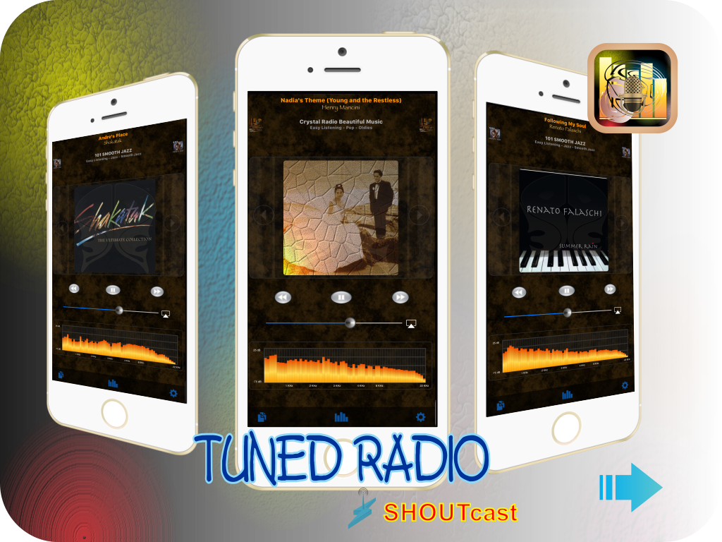 Tuned Radio Shoutcast Edition App